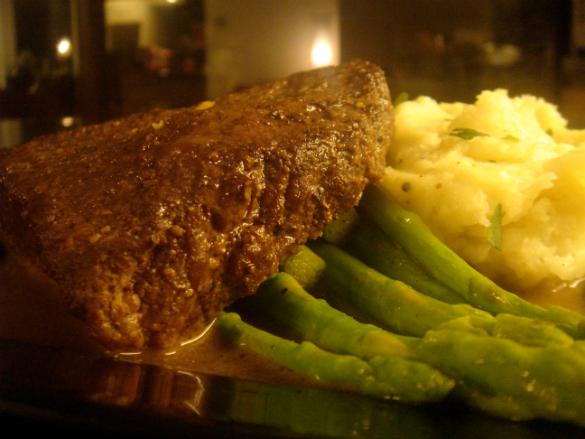 Steak Au Poivre a la Julia Child