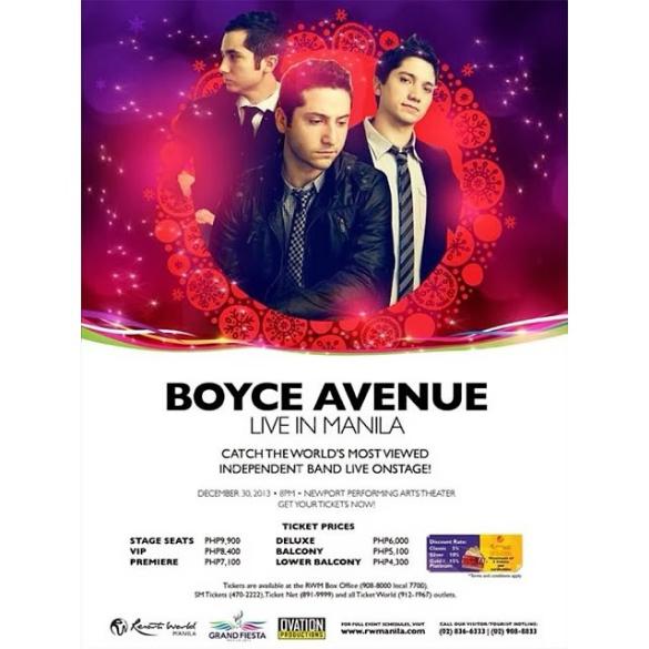 Poster I found online (thru www.boyceavenue.com)