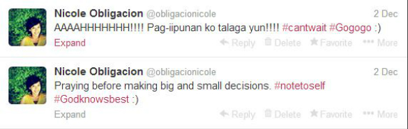 My tweets last Dec. 2