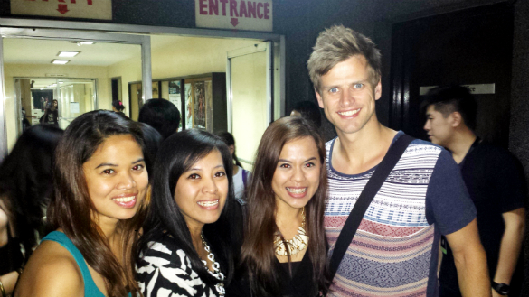 With Steve Danielsen (Fiyero)
