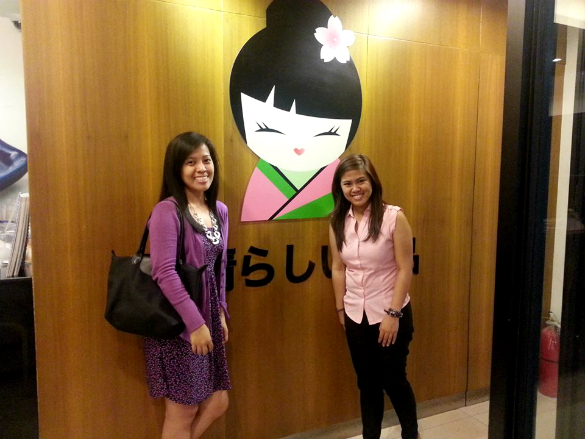 Encouraging time with my officemate (Shermaine) after work. :)