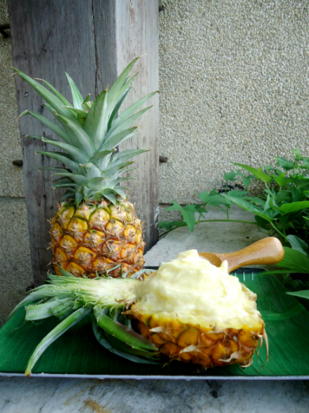 Simple Sunday Snack: Pineapple Ice Cream