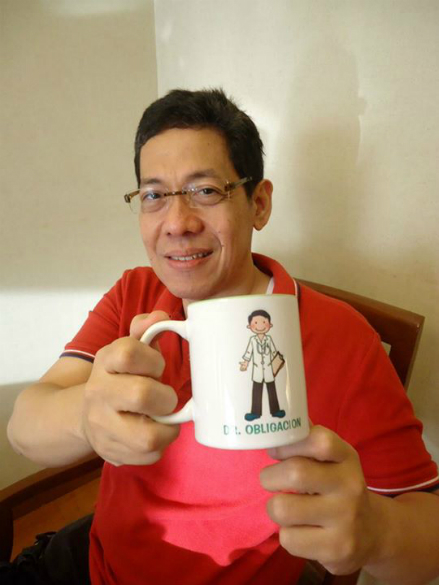 Dad's free mug from Discovery Hotel, Ortigas.