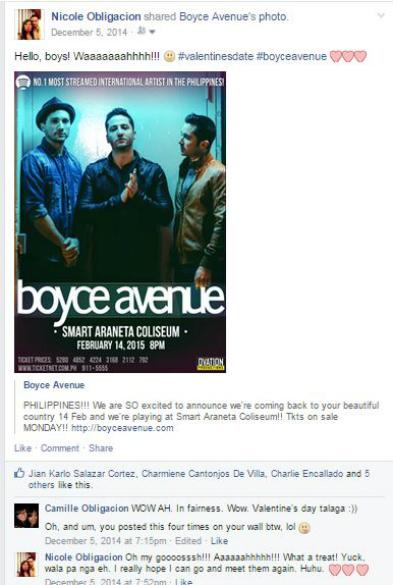 Boyce Avenue's Poster: Concert in Manila 2015. Valentine's Day