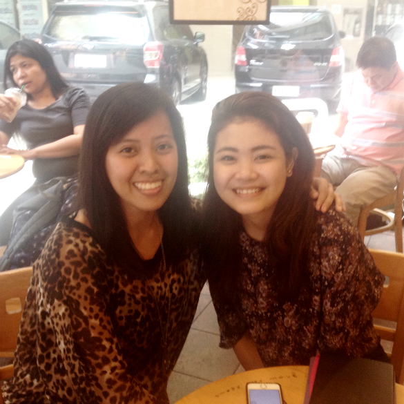 One-on-one with Arra before the Boyce Avenue concert. :)