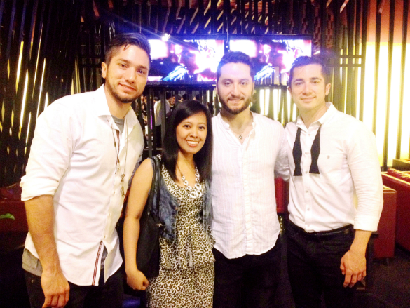 At Smart Araneta Coliseum with Fabian Manzano, Alejandro Manzano, and Daniel Manzano. Boyce Avenue!