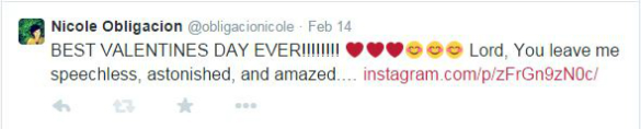 Tweet after the concert of Boyce Avenue.