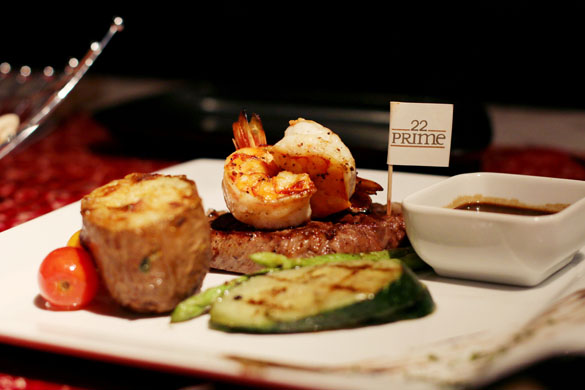 Surf n Turf at 22 Prime